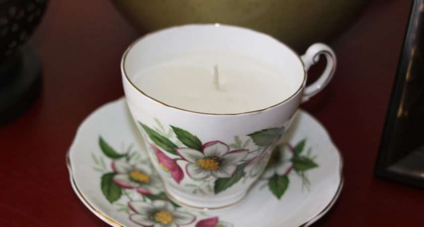 Our Pinteresting Tea Cup Candle