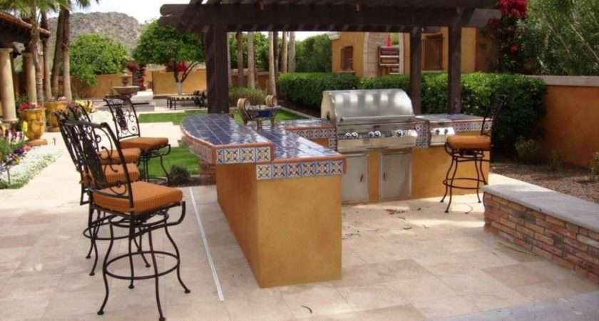 Outdoor Barbeque Island Bbq Area Design Home Sweet