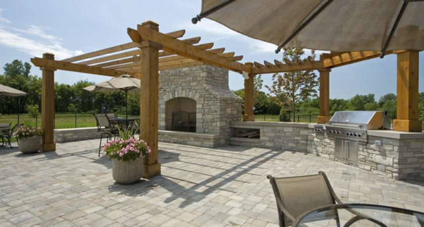 Outdoor Bbq Area Traditional Landscape Minneapolis