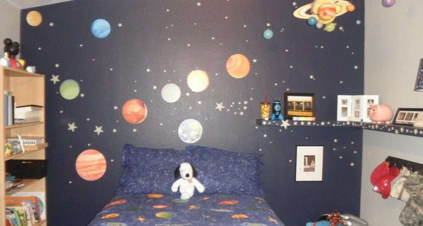 Outer Space Themed Bedroom Young Boys