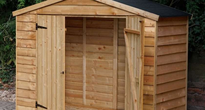 Overlap Apex Wooden Bike Store Easy Fit Roof