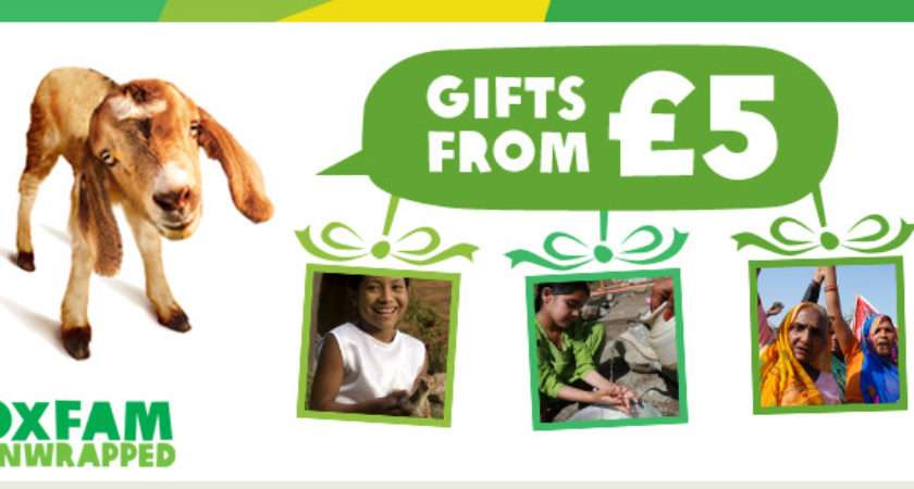 Oxfam Unwrapped Gifts Gift Vouchers