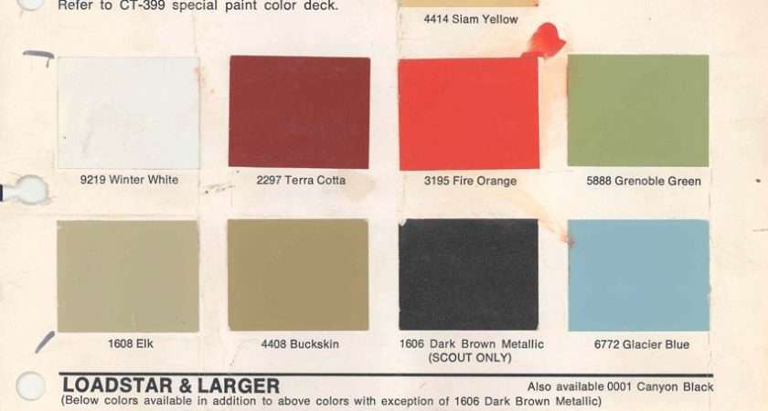 Paint Chart International Harvester Down