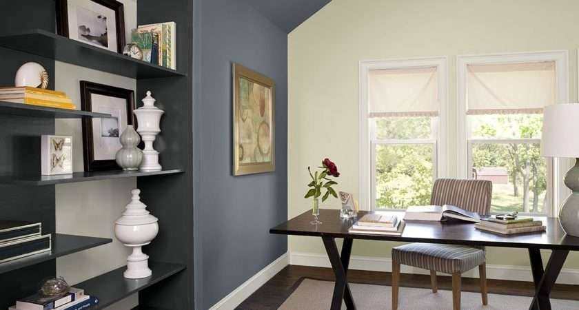 Paint Colors Blue Home Office Ideas Boldly Accented