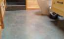 Painted Concrete Floor Bathroom