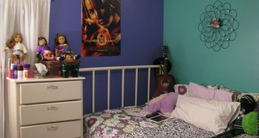 Painted Daughter Bedroom Four Different Colors Turquoise