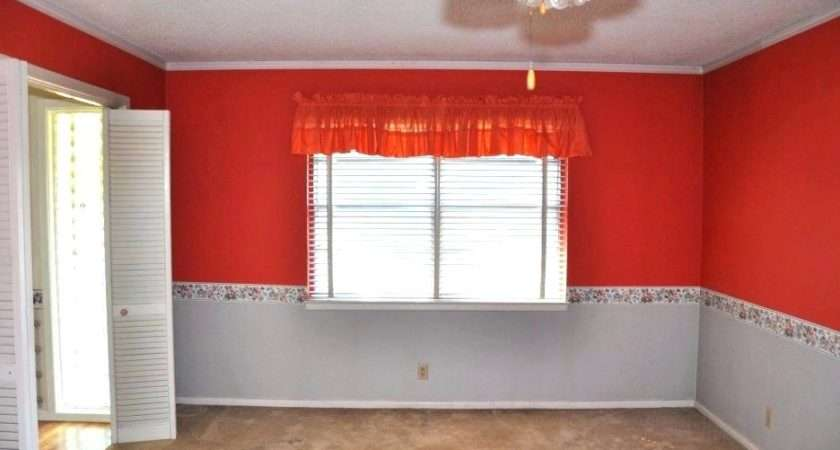 Painting Borders Walls Ideas Two Tone Bedroom Wall