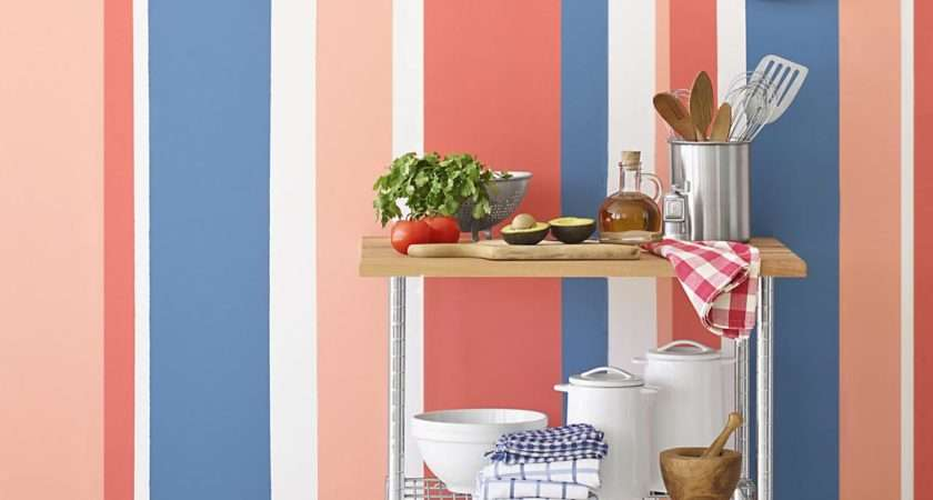Painting Multicolored Stripes Wall Hgtv
