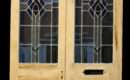 Pair Art Deco Stained Glass Entrance Doors