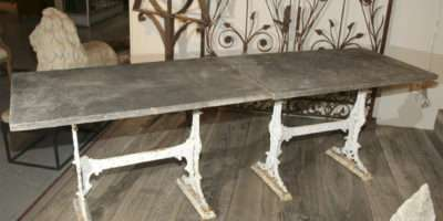 Pair Marble Topped Cast Iron Conservatory Tables Stdibs