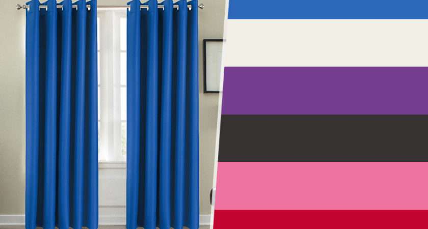 Pair Thermal Blackout Curtains Valid Colours