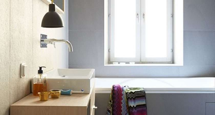 Pale Grey Streamlined Bathroom Decorating Housetohome