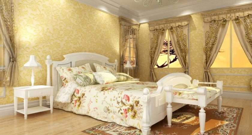 Pale Yellow Walls White Furniture Bedroom House