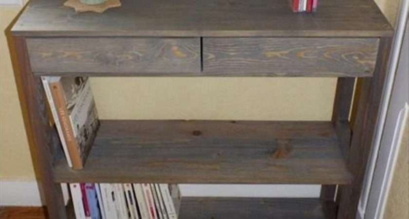 Pallet Hallway Table Ideas Furniture Projects