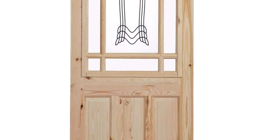 Panel Knotty Pine Glazed Internal Standard Door