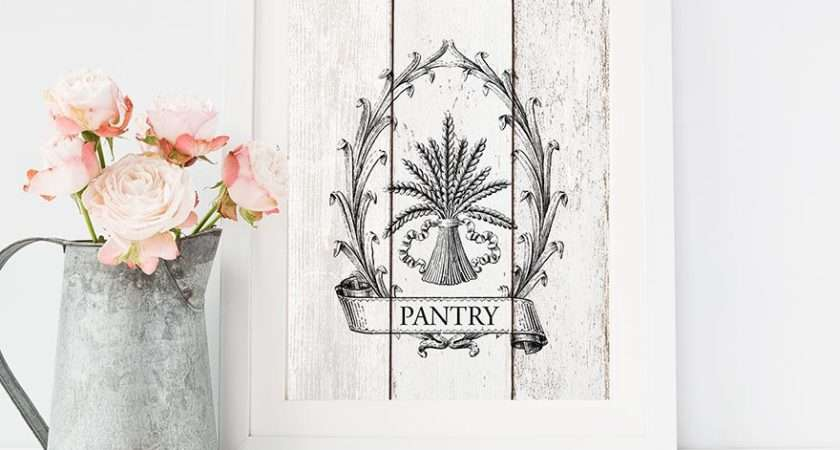 Pantry Sign Kitchen Print French Country Farmhouse Wall
