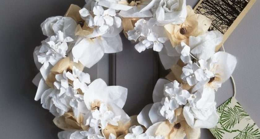 Paper Flower Wreath Contemporary Wreaths Garlands
