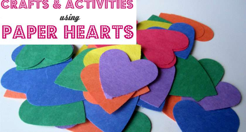 Paper Hearts Crafts Activities Time Flash Cards