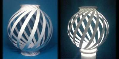 Paper Lamp Ball Twist Spiral Youtube