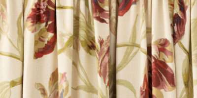 Paprika Floral Pencil Pleat Ready Made Curtains Laura Ashley