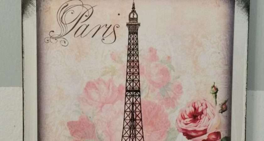 Paris Vintage French Country Cottage Chic Wall