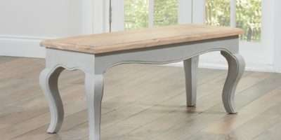 Parisian Grey Shabby Chic Dining Table Benches Great