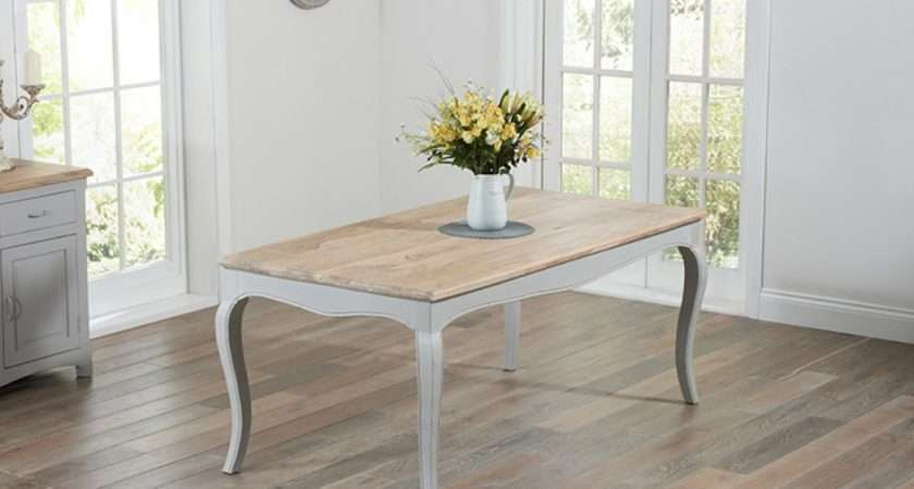 Parisian Grey Shabby Chic Dining Table Chairs Great