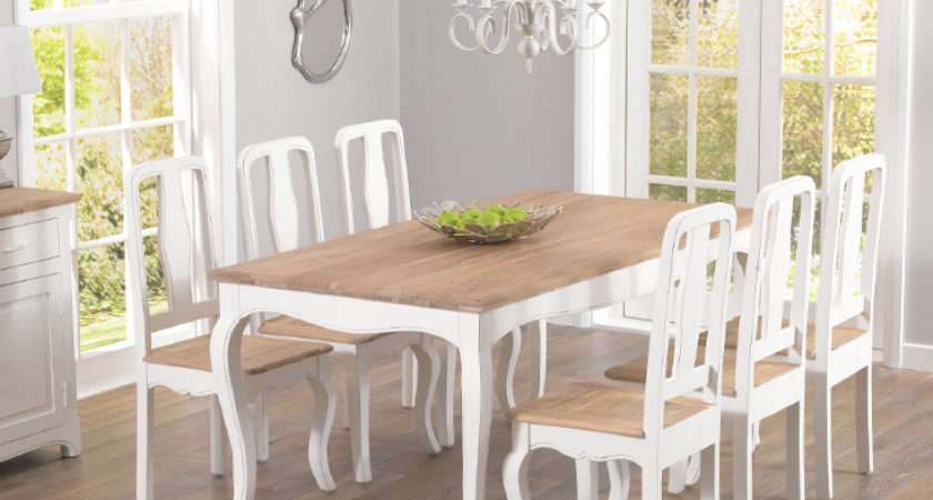 Parisian Shabby Chic Dining Table Chairs Furniture