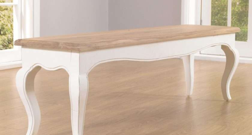Parisian Shabby Chic Large Bench Great Furniture Trading Company