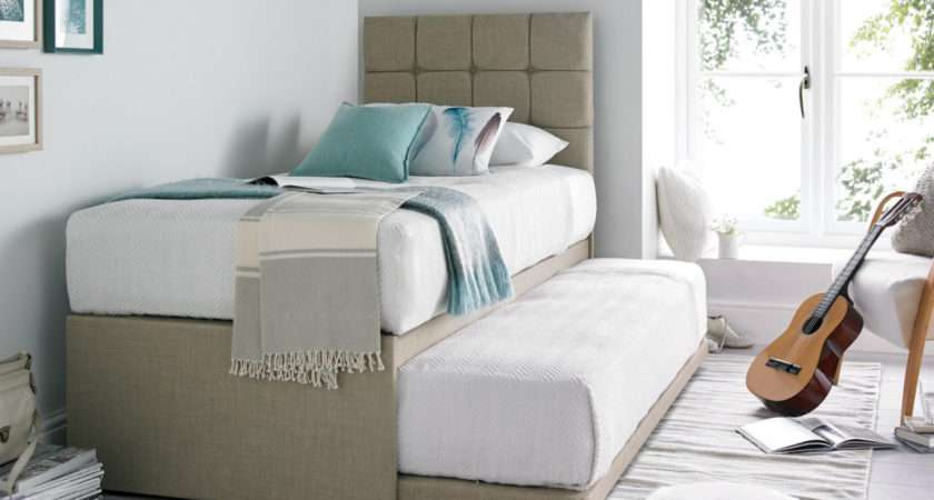 Partners Linoso Cream Upholstered Guest Bed