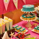 Party Fit Princess Aqua Pink Mermaid Birthday
