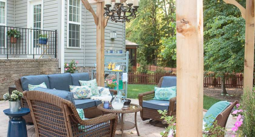 Patio Decorating Ideas Our New Outdoor Room Atta Girl Says