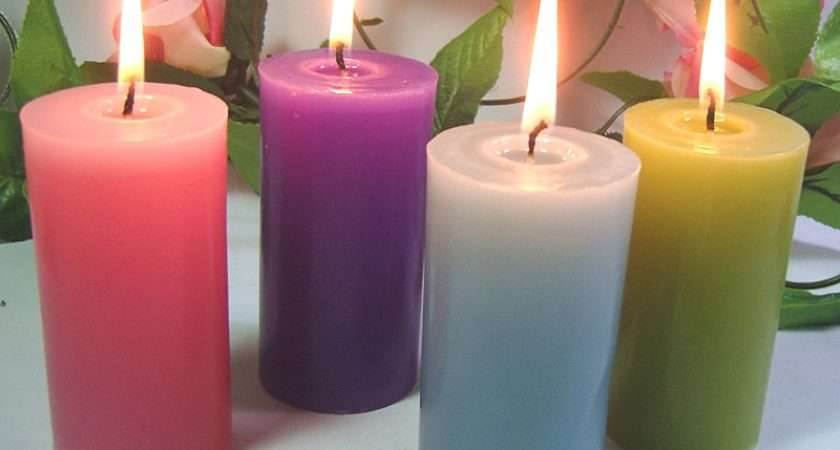 Pcs Pack Square Block Flower Scented Candles Wedding