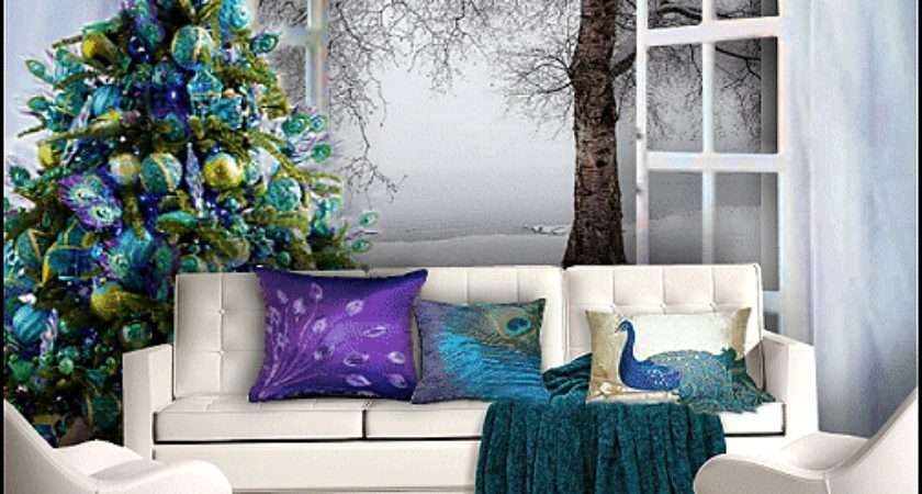 Peacock Christmas Decorations Themed Bedrooms