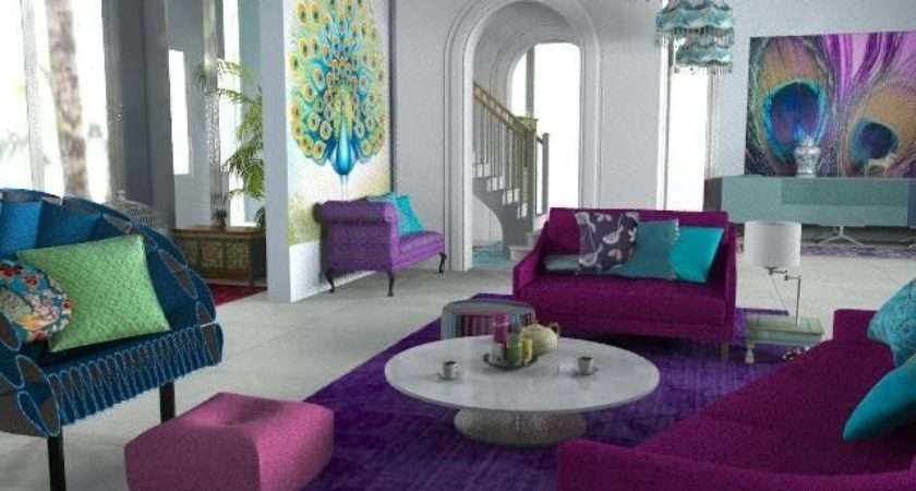 Peacock Living Rooms Room Decor Colors