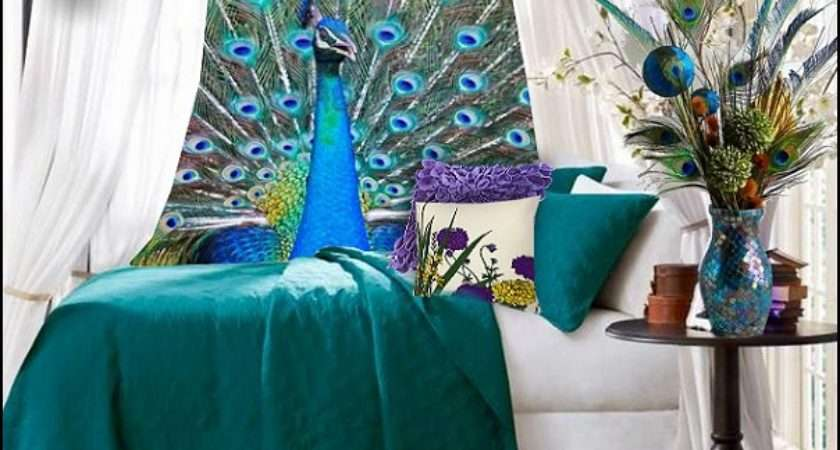 Peacock Pizzaz Into Bedrooms Theme Decorating