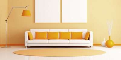 Perfect Combination Yellow White Living Room