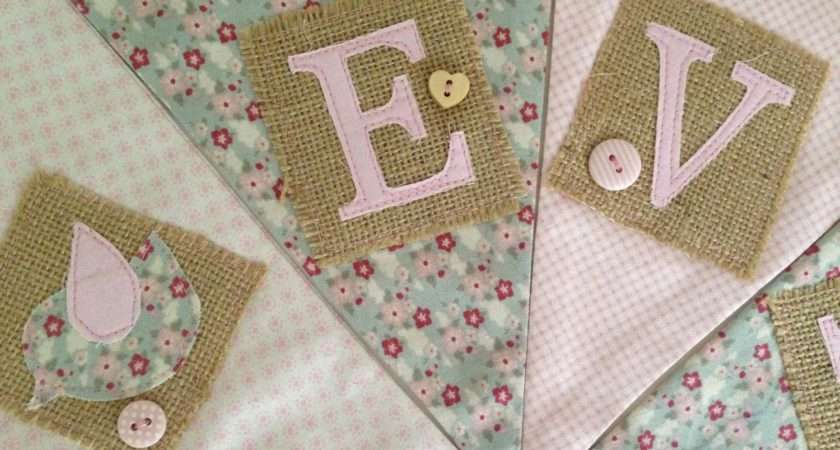Personalised Bunting Pinks Greens Cocobluedesign