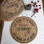 Personalised Christmas Cork Placemats Just Love