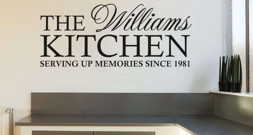 Personalised Kitchen Wall Art Quote Sticker Decal