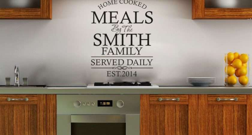 Personalised Kitchen Wall Art Quote Sticker