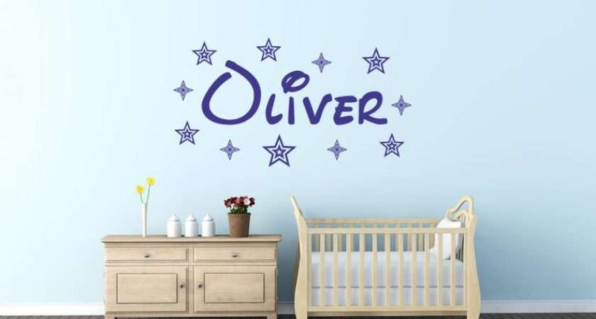 Personalised Name Wall Art Sticker Decal