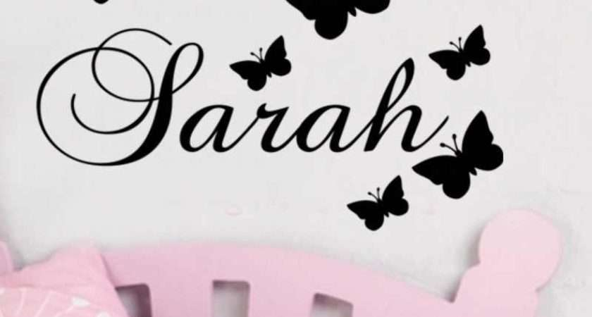 Personalised Name Wall Stickers Peenmedia