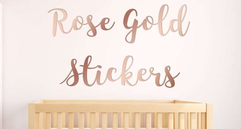 Personalised Rose Gold Wall Sticker