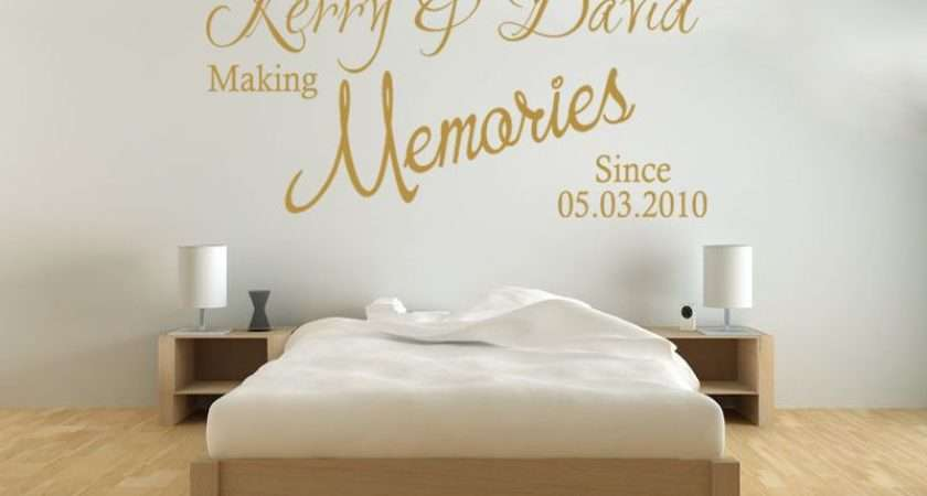 Personalised Wall Art Quote Making Memories Since