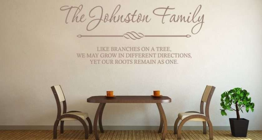 Personalised Wall Art Quote Sticker Decal