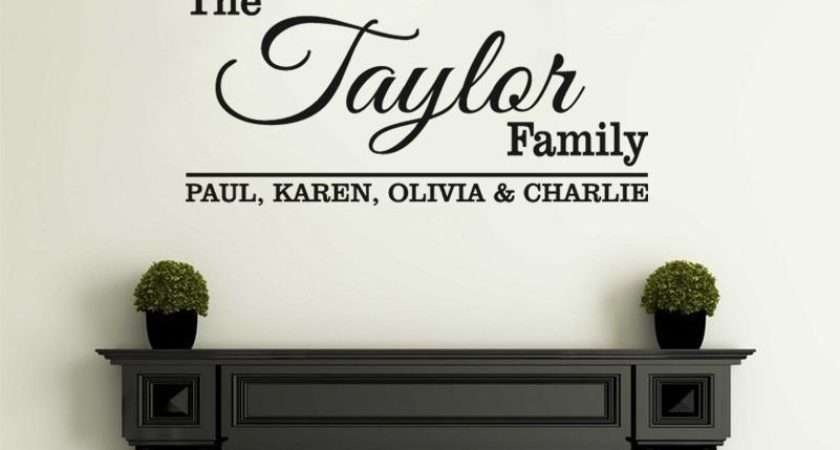 Personalised Wall Quote All Names Art