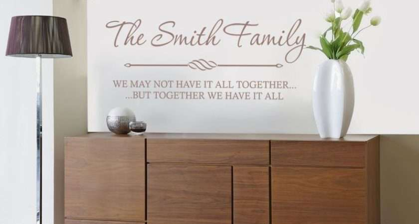 Personalised Wall Quote Art Sticker Modern