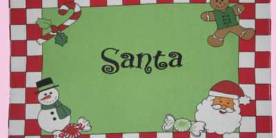 Personalized Kids Embroidered Placemats Place Mats Table