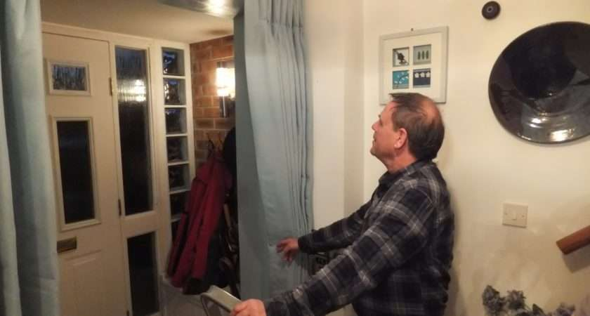 Phil Fitting Our Hallway Curtains
